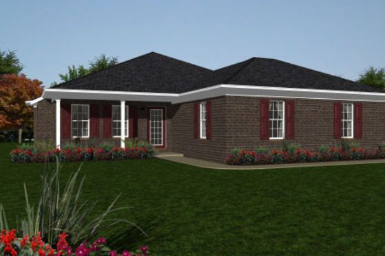 House Plan 14-244 with screen porch