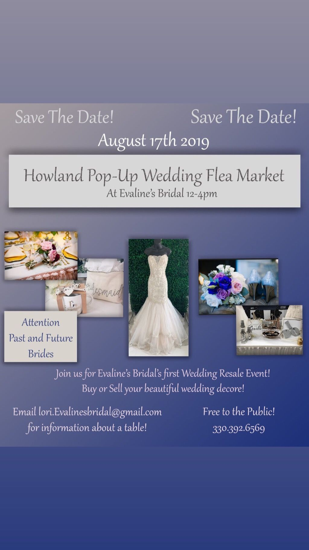 Howland Wedding Resale Event Aug 17th Event Wedding Wedding Item