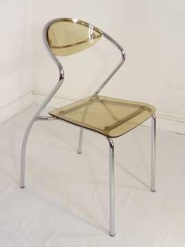 chaise plexi designer annee 70