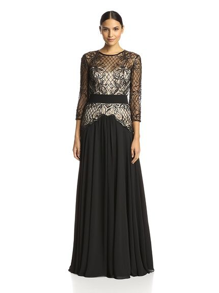 Terani Couture Womens Gown with Beaded Bodice, http://www