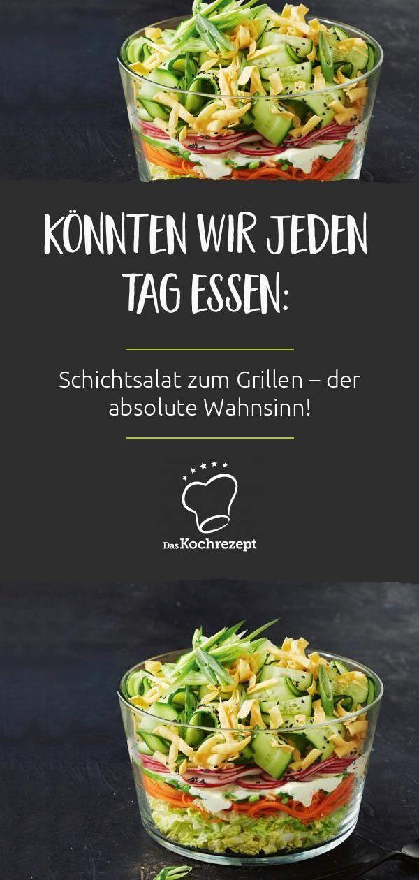 Schichtsalat zum Grillen