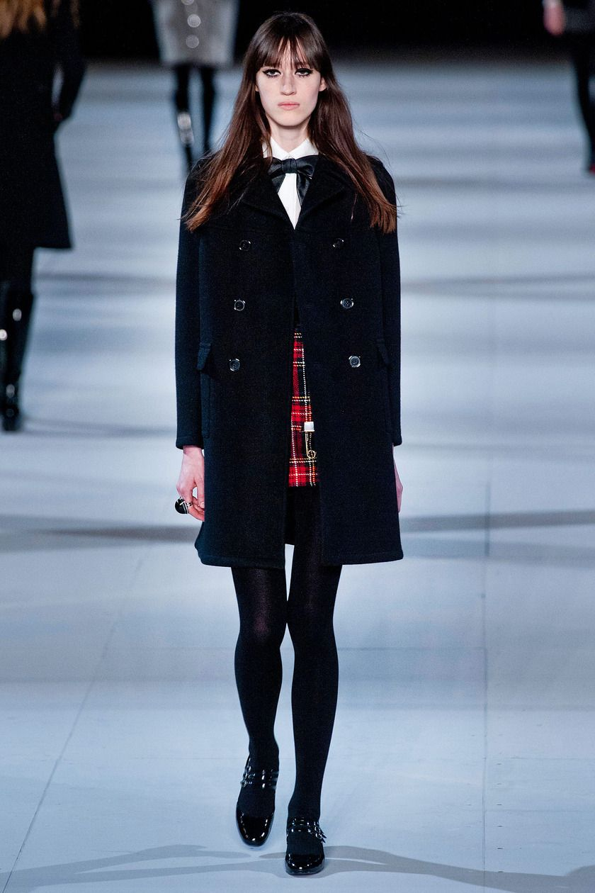 "Saint Laurent Fall 2014 ""They called to mind fantastic vintage-store finds that had been dry-cleaned, refitted, and restyled."" R. Givhan, The Cut"