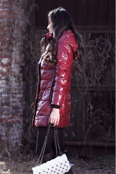 12.12 Margaret daunenmantel winter glänzend langer design