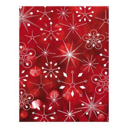 Christmas Snowflake Pattern Letterhead - pattern sample design template diy cyo customize