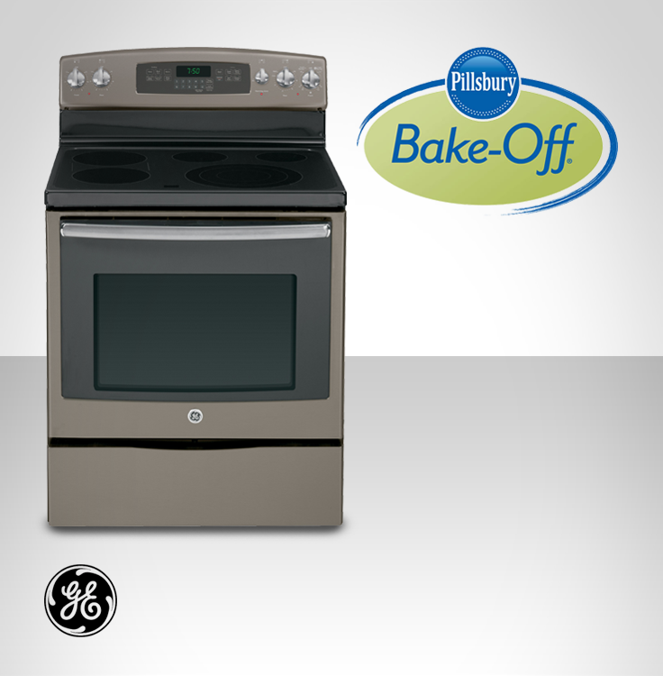 Off White Kitchen Cabinets With Slate Appliances: GE Appliances Has Been A Key Sponsor Of The Pillsbury Bake