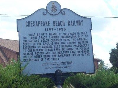 The Historical Marker Sits On A Small Median Edge Of Parking Lot To Chesapeake Beach Railway Museum