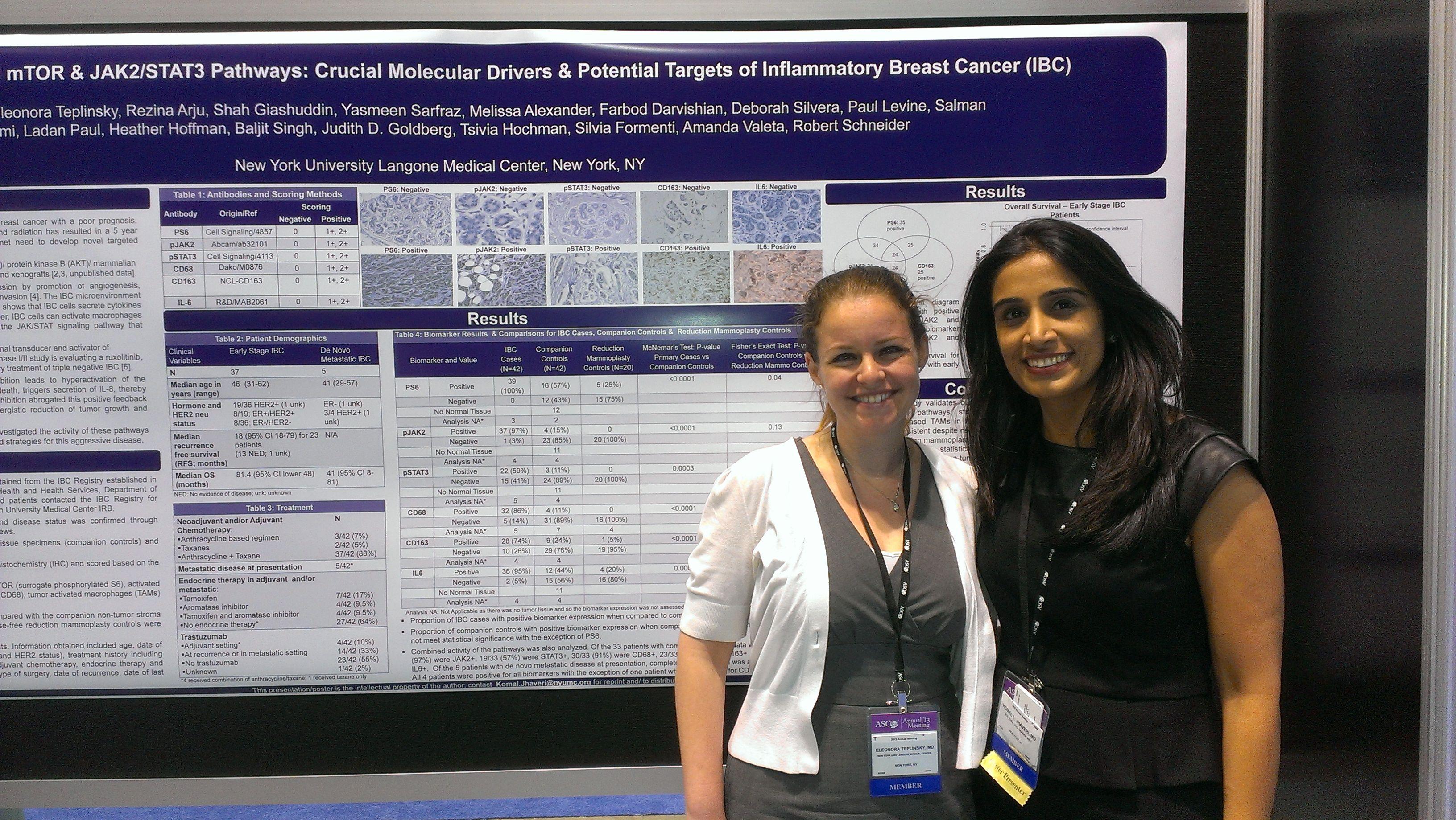 Dr  Komal Jhaveri & NYU student, sharing her IBC research at