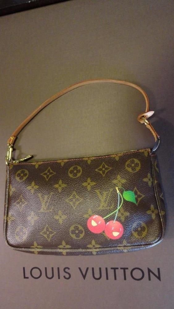 LOUIS VUITTON Monogram Cerises Cherry Murakami Pochette Accessories #Clutch #Purse #LouisVuitton #Pochette