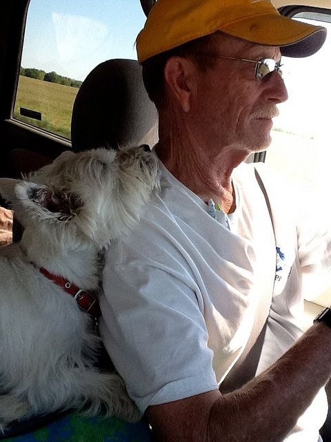 Bob & Mackie driving through Oklahoma in search of