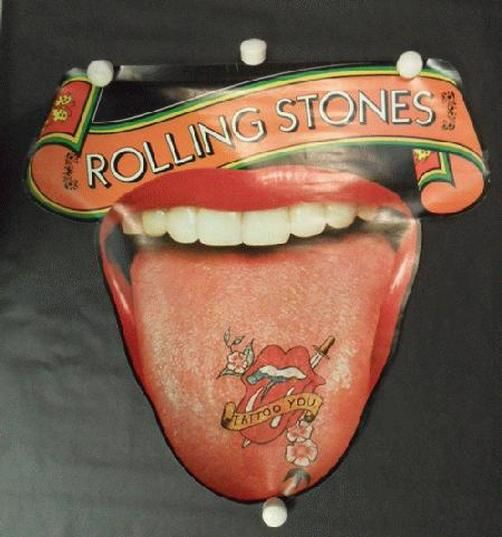 tattoo rolling stones poster posterscene die 1981 rock cut music posters stone album promo memorabilia movie richards keith start