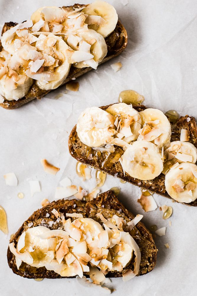 Almond Butter Toast With Bananas And Toasted Coconut | The Modern Proper