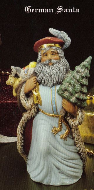 Old world german santa collectible ceramic bisque by
