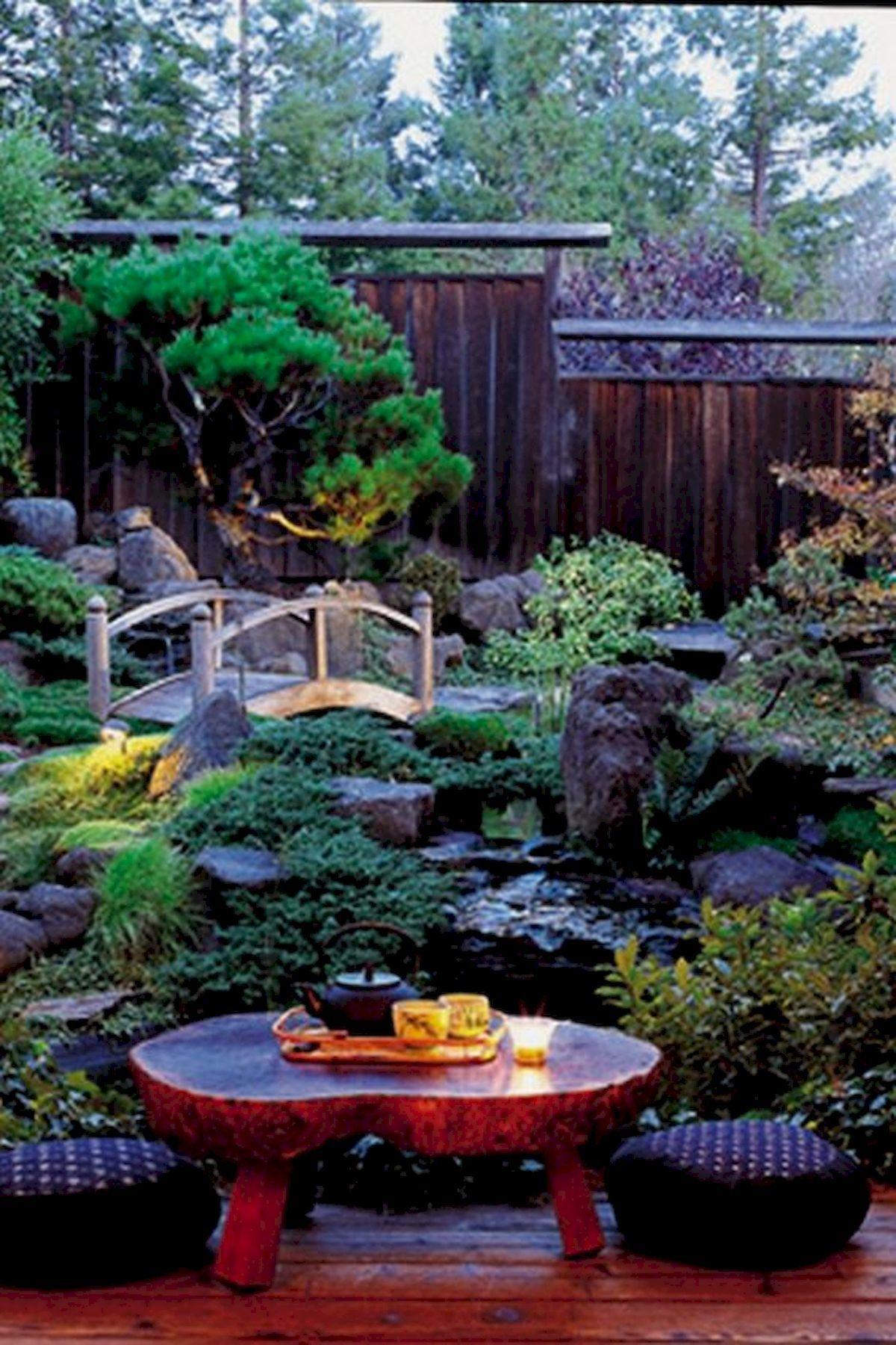 Awesome 80 Beautiful Side Yard And Backyard Japanese Garden Design Ideas Source Japanese Garden Landscape Small Japanese Garden Japanese Gardens Design Ideas Japanese garden ideas for backyard