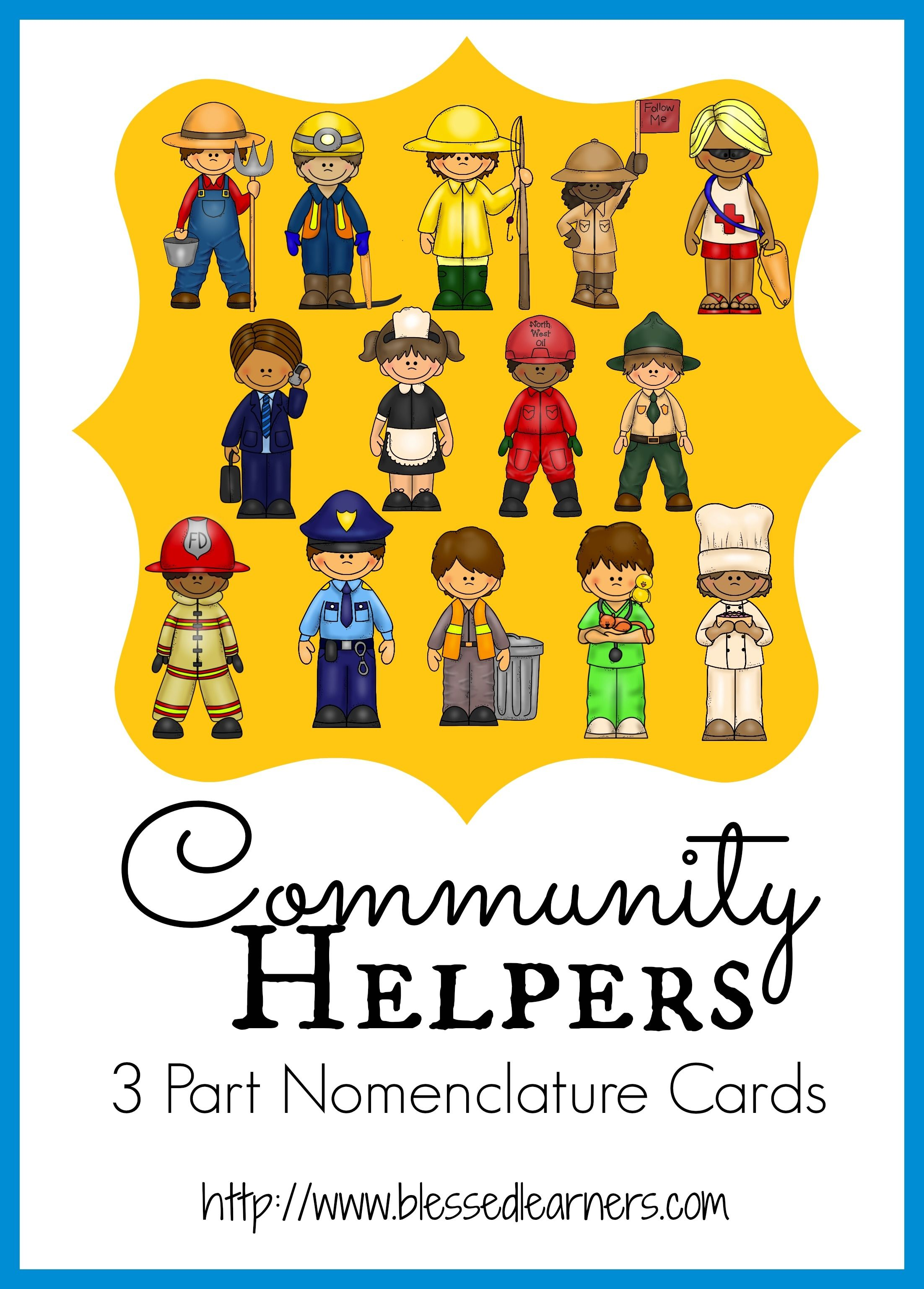 Community Helper 3 Parts Classified Cards Will Introduce