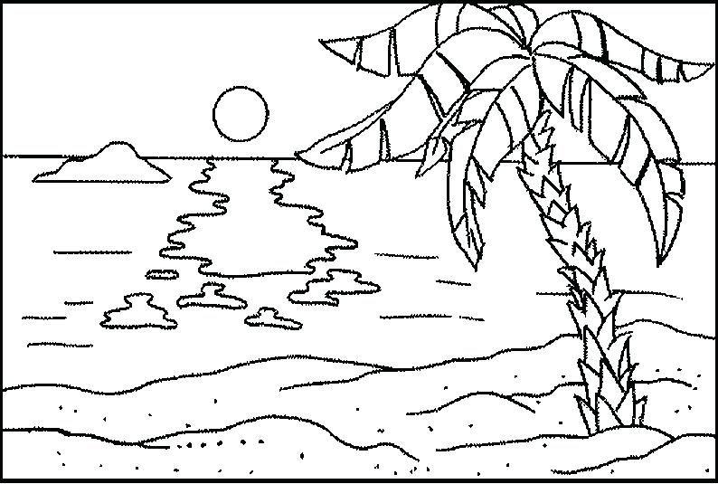 Coloring Pages Of The Beach Beach Coloring Page Beach Coloring Sheet Beach Ball Coloring Pages Potlood Schetsen Schetsen Potlood