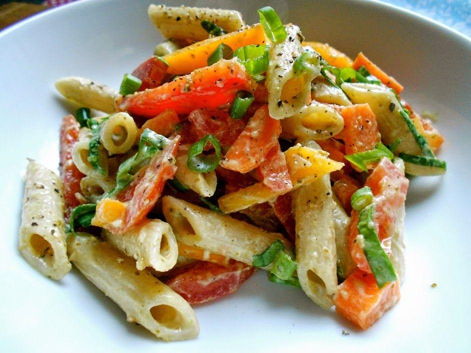 Cantinho Vegetariano Salada Colorida De Macarrao Vegana