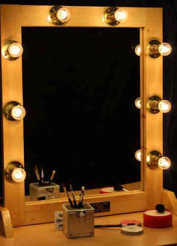 Star Dressing Room Illuminated Make Up Mirror New インテリア