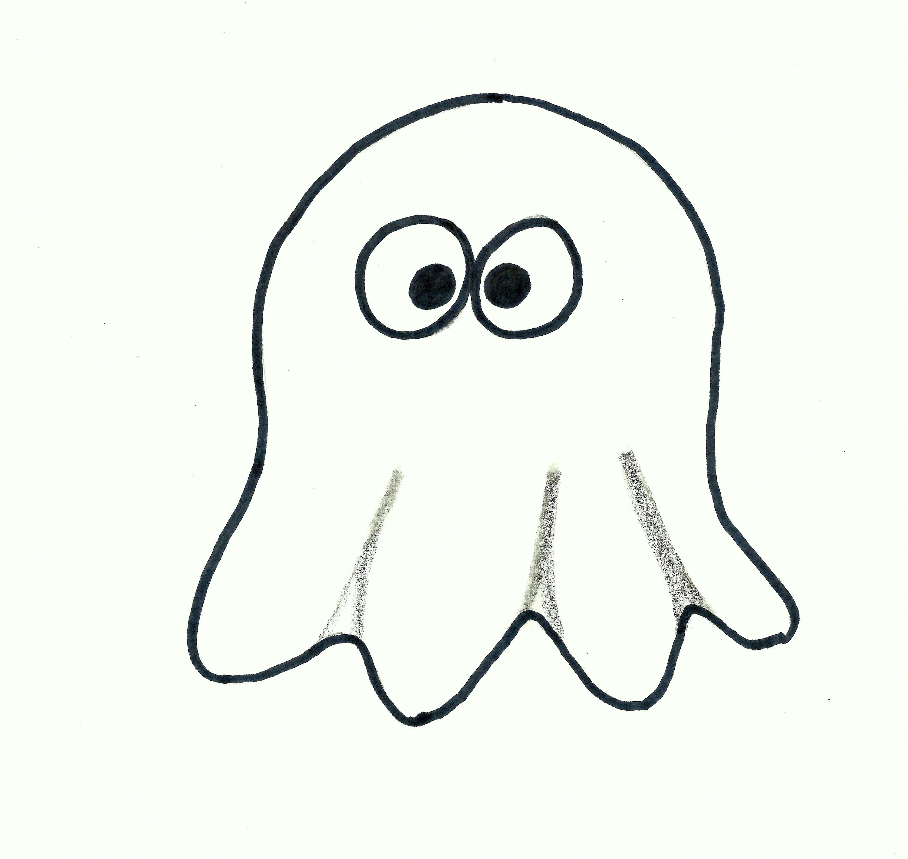How To Draw A Halloween Ghost Cartoon Easy Drawing Lesson For