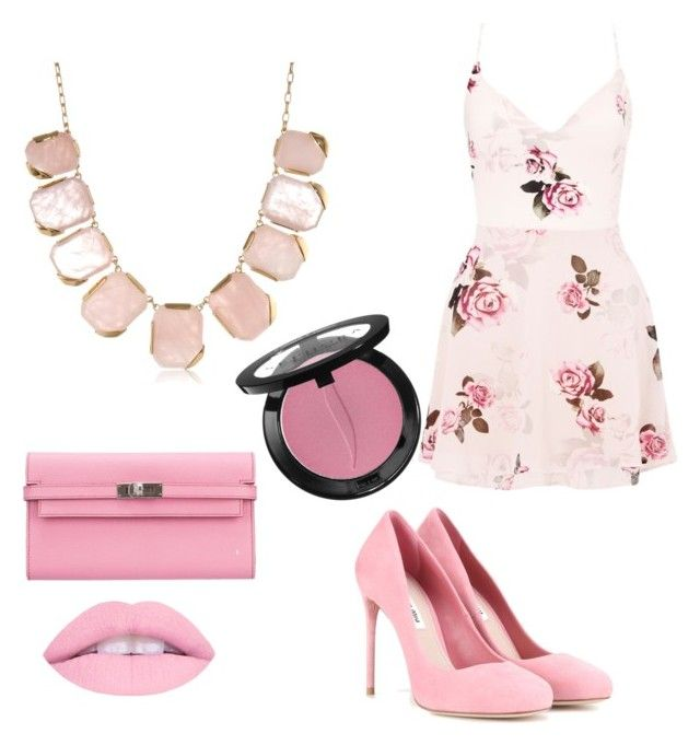 """""""Sugar Sweet Selection"""" by beautybonanz on Polyvore featuring Lipsy, Miu Miu, Kate Spade, Hermès and Sephora Collection"""
