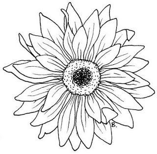 Sunflower Gerbera Bloemen Tekenen Kleurplaten Bloem Kleurplaten