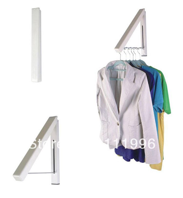 Wall Hangers For Clothes Free Shipping 2Pcs Bathroom Accessories Folding Mini Wall Hanger
