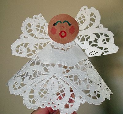 Paper Doily Angel Craft For Kids Super Easy Lindas Passions