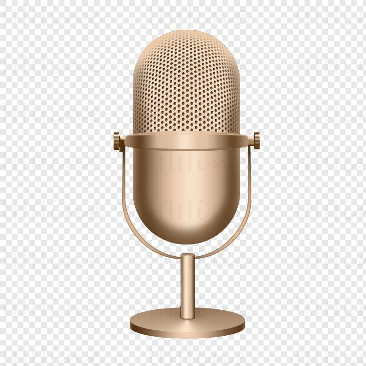 Golden Microphone Icon Transparent Background Png Microphone Icon Microphone Transparent Background