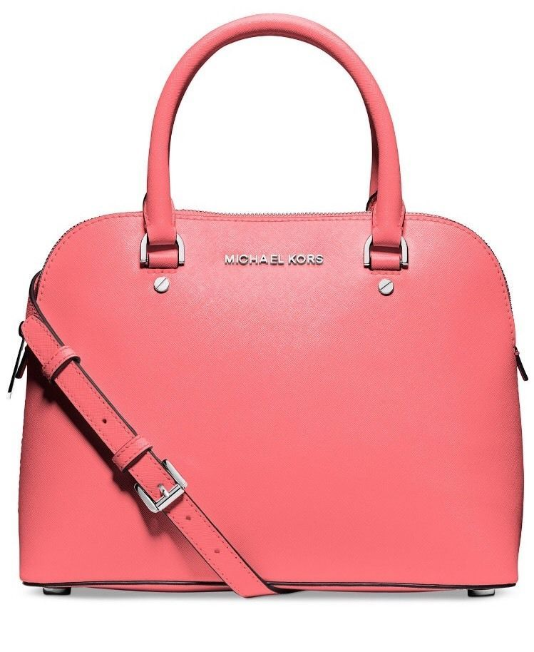 Bag �� Michael by Michael Kors Cindy Medium Dome Satchel Coral | eBay.  Designer Bags SaleBag ...