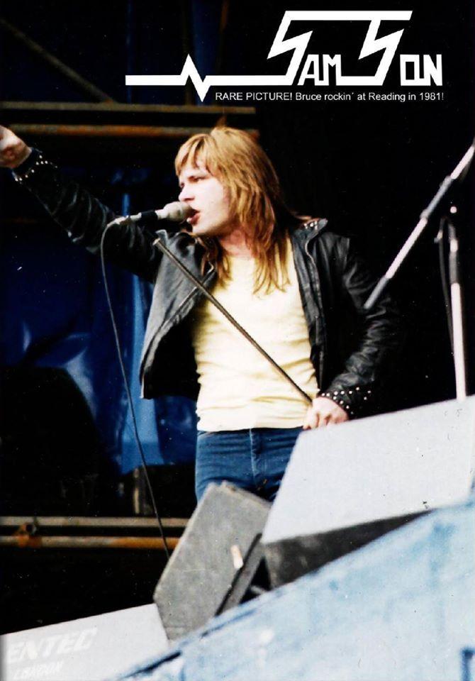 Bruce at Reading Festival 1981.
