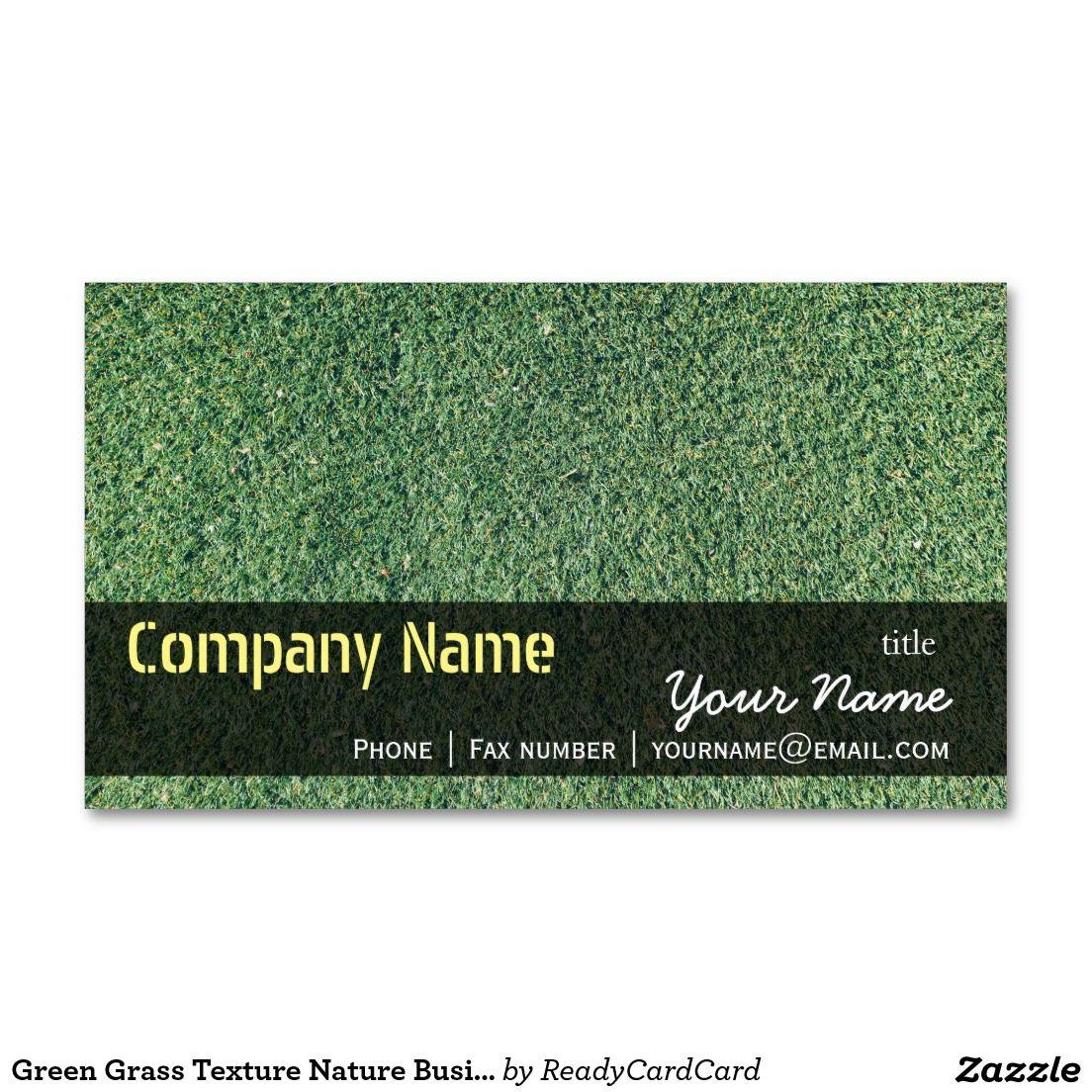 Green Grass Texture Nature Business Card Templates   Green grass ...