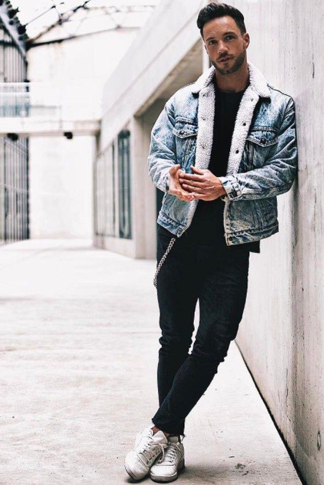 Daniel Fox wearing Levi s Sherpa Trucker Jacket 1ef7a33afdc
