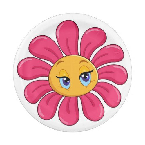 Emoji pink flower paper plate flower paper and emoji emoji pink flower paper plate mightylinksfo Images