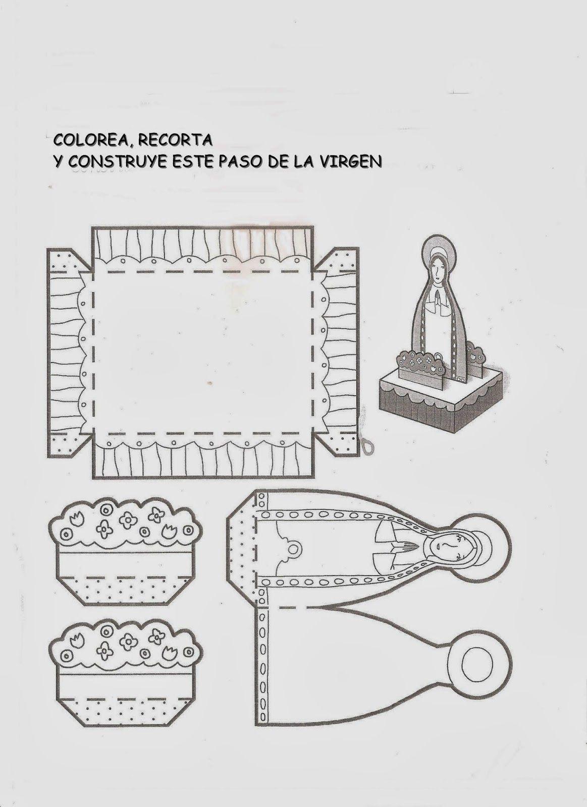 Paso De La Virgen Manualidad Catequesis Manualidades De Semana