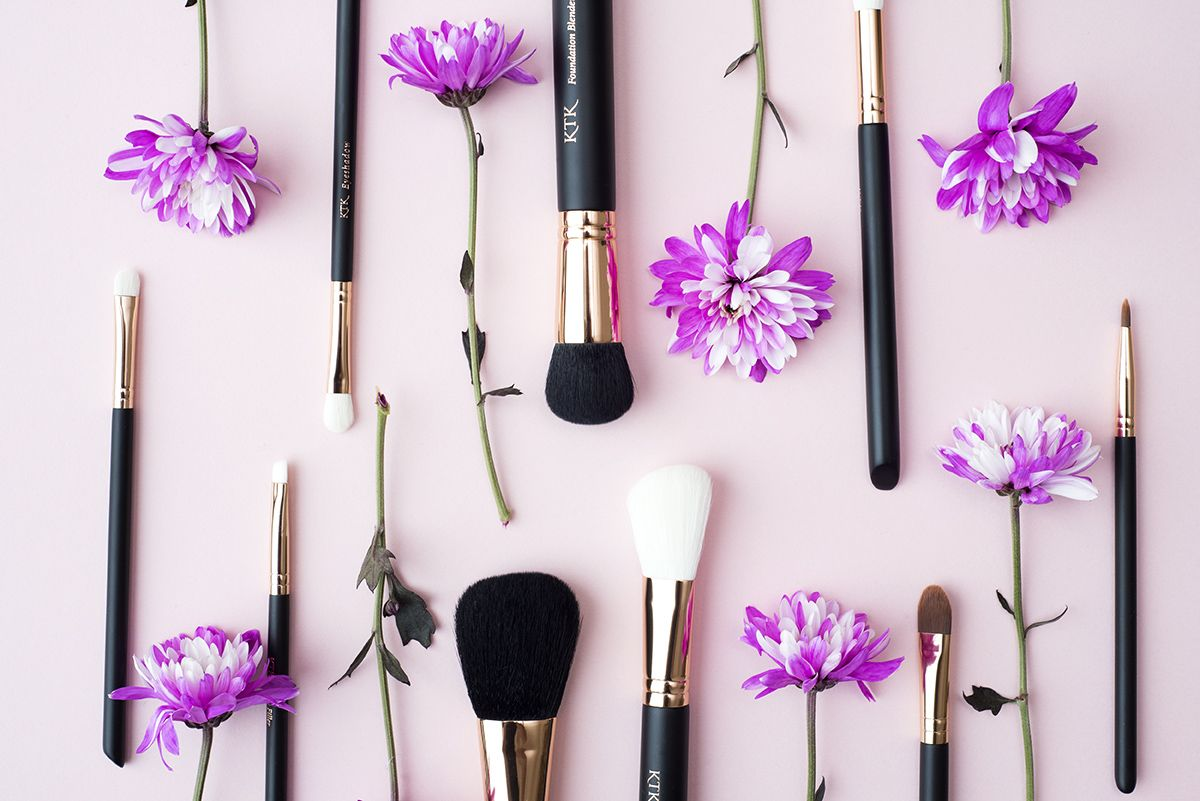 Pretty in Pink KTK Makeup Brushes. All brushes are Vegan