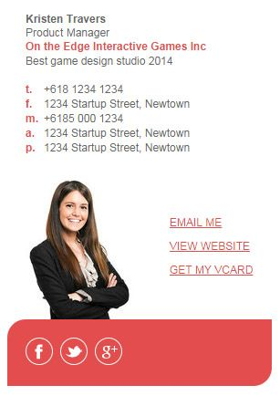 Market Me Series 2 Email Signature Template by Email Signature - sample email signature