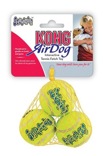 KONG AirDog Squeakair Balls Packs Dog Toy