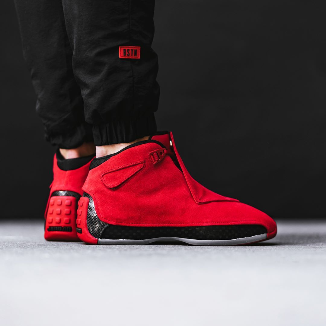 cb469f4df7a3bc Air Jordan 18 Retro Gym Red   Black Credit   BSTN