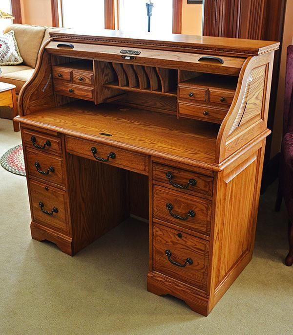 Http Archana Me Roll Top Desk Oak