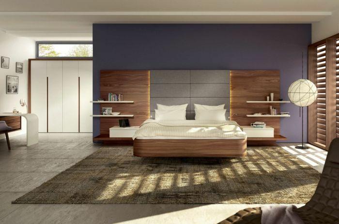 Ausgefallene Betten Schwebendes Bett Design Helles Holz Schlafzimmer