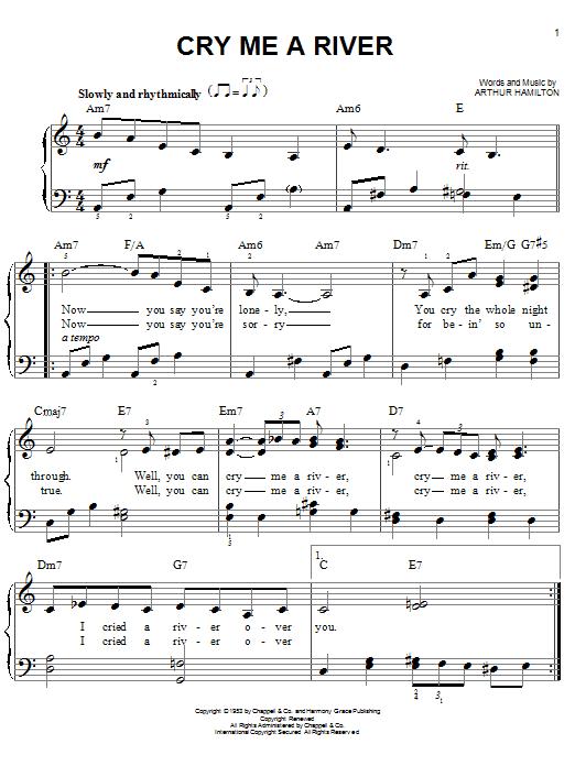 Arthur Hamilton Cry Me A River Sheet Music Notes Chords Score Download Printable Pdf Sheet Music Sheet Music Notes Music Notes