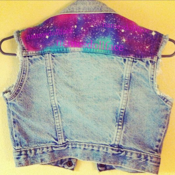 Galaxy Vest ($115) ❤ liked on Polyvore