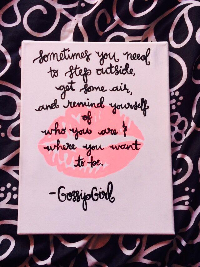 Sometimes You Need To Step Outside, Gossip Girl, Gossip Girl Print ...