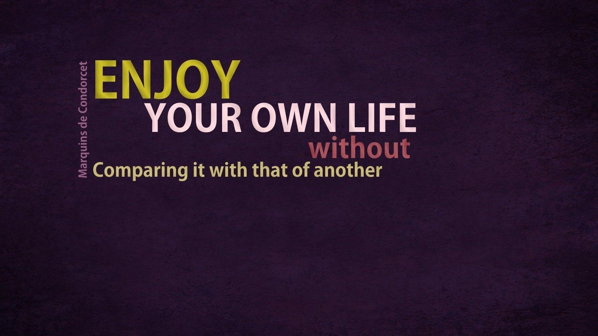 Enjoy Inspirational Quote Wallpaper 1920x1080