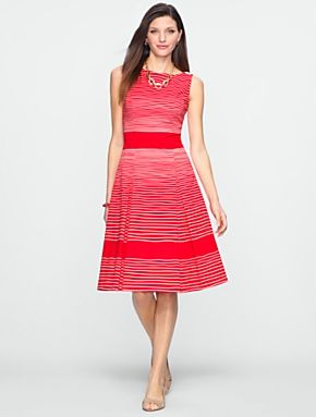 b68bff02ba8 Maybe too bright for a wedding but cute. Talbots - Rope-Stripe Dress ...
