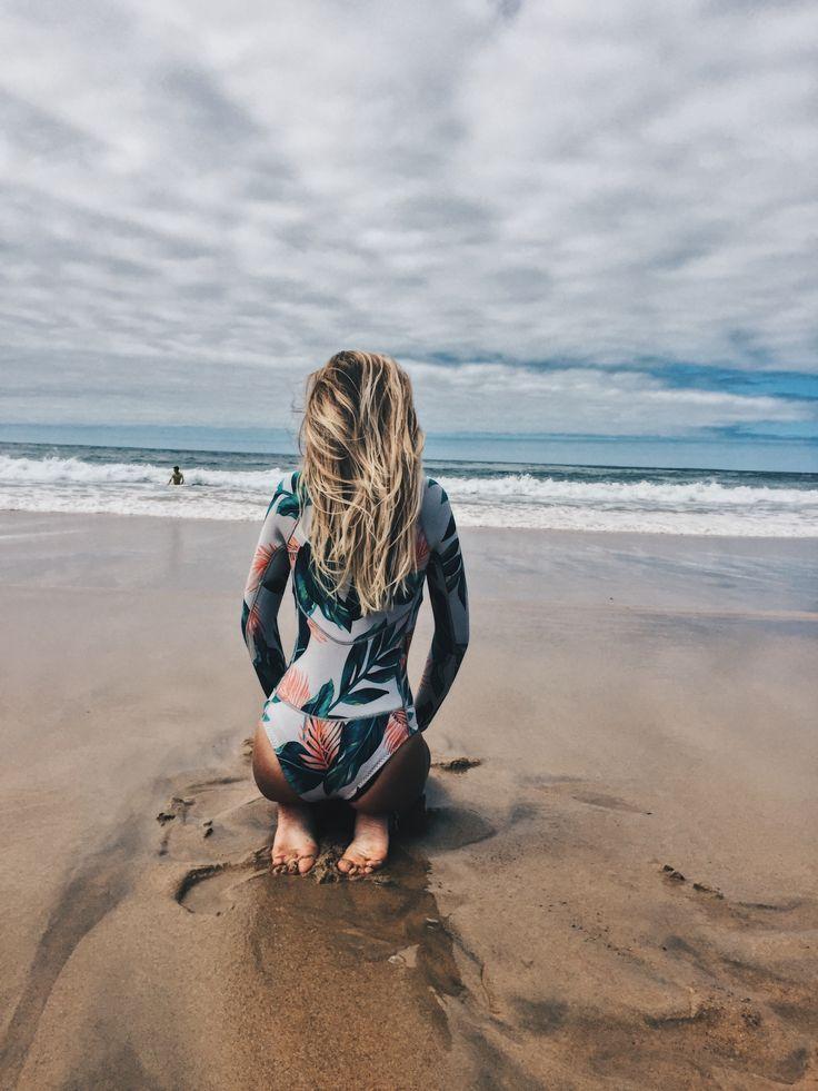 surf girl ocean wetsuit billabong women #surfgirls
