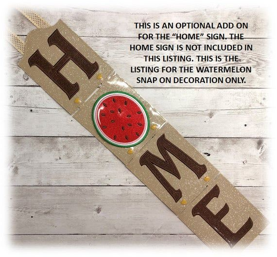 In The Hoop Watermelon Snap On Decoration Embroidery Machine Design