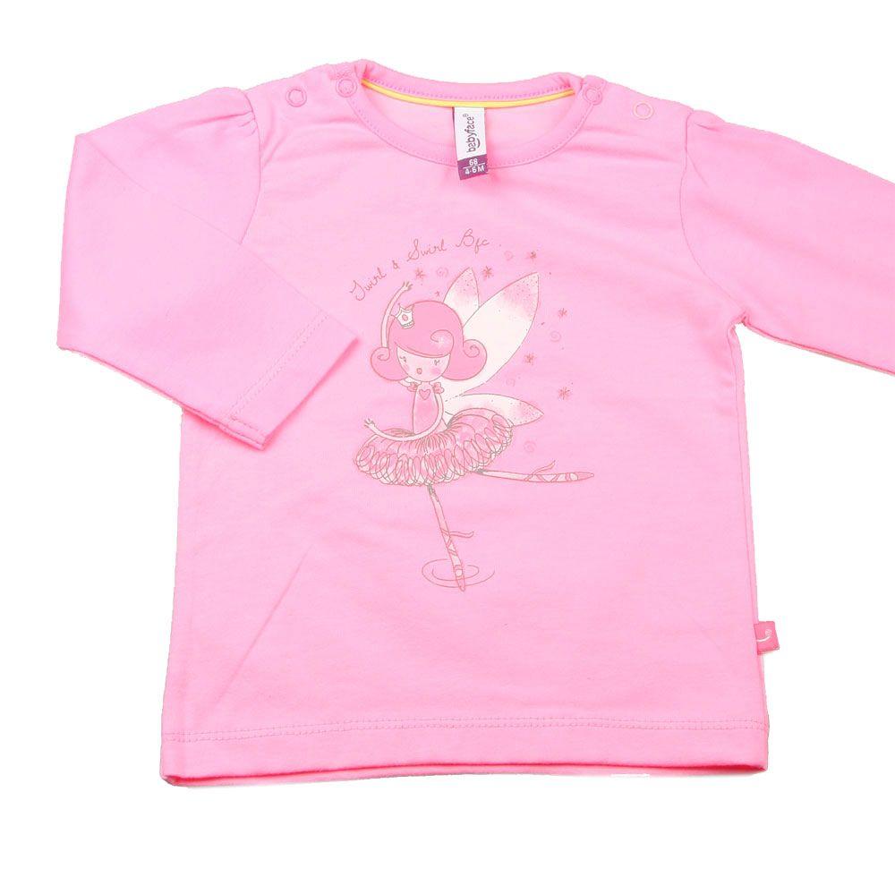 Babyface Newborn Shirt Lange Mouw Lola Felroze Kinderkleding, Kindermode en Babykleding www.kienk.nl