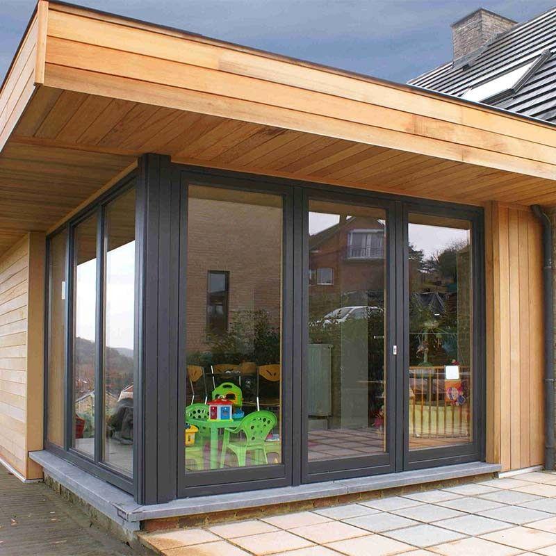 Fen tre coulissante bois riche fen tres et portes d 39 entr e pinterest fen tres coulissantes - Moderne entree veranda ...