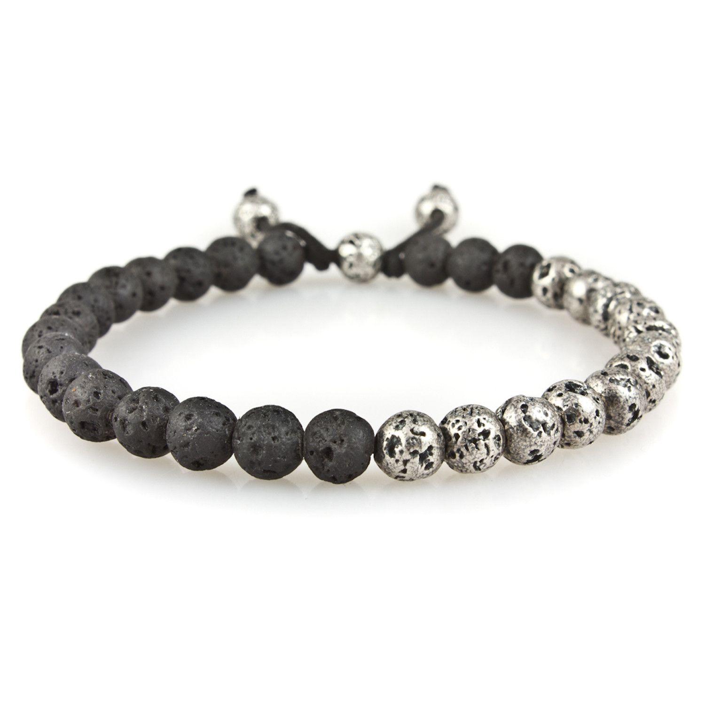 0976804a0a6f0 Small Mix Lava Silver Lava Stone Bead Bracelet | M. Cohen Designs ...