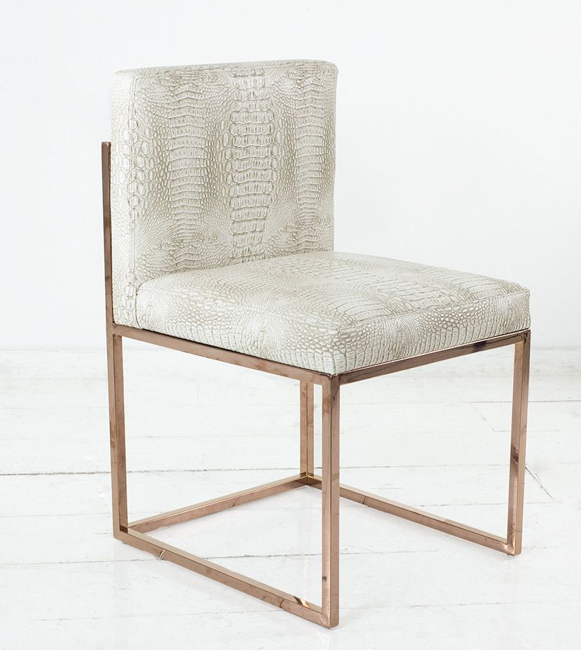 007 Dining Chair With Rose Gold Frame Dining Chairs Upholstered